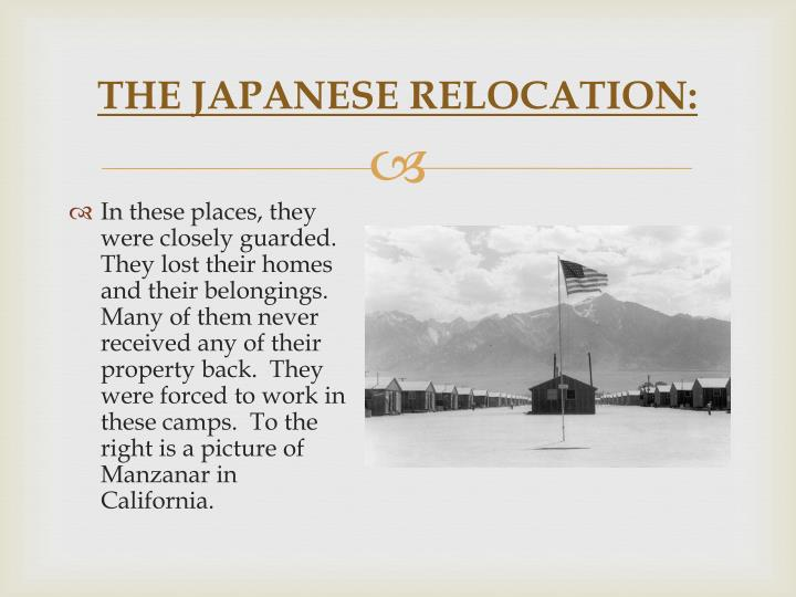 The japanese relocation2