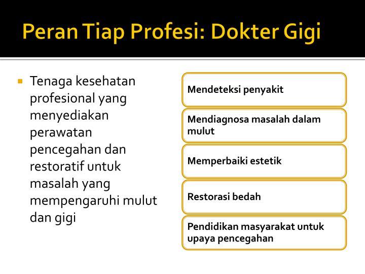 Peran Tiap Profesi: Dokter Gigi