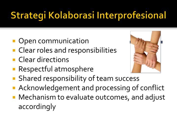 Strategi Kolaborasi Interprofesional