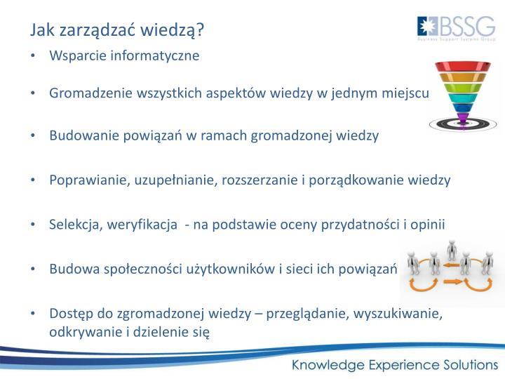 Jak zarządzać wiedzą?