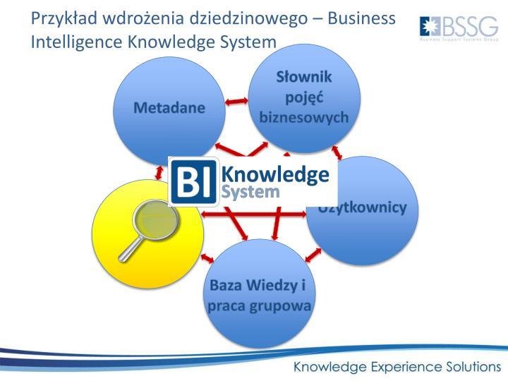 Przykład wdrożenia dziedzinowego – Business