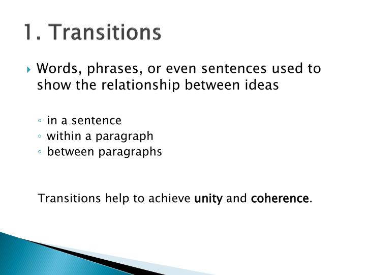 1. Transitions