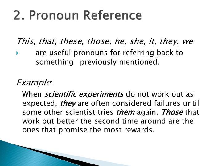 2. Pronoun