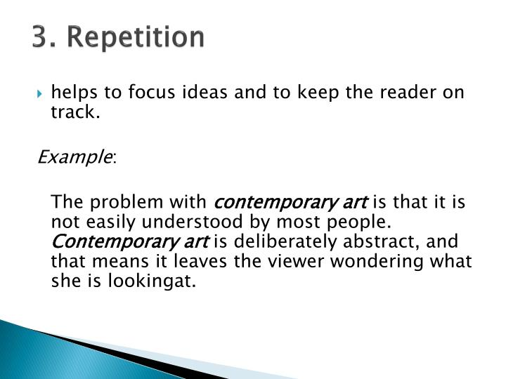 3. Repetition
