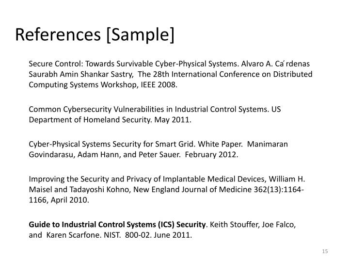 References [Sample]