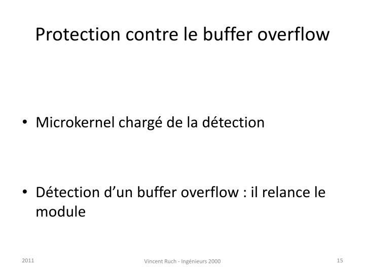 Protection contre le buffer overflow