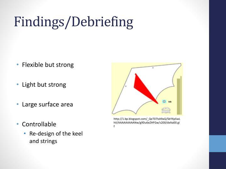 Findings/Debriefing