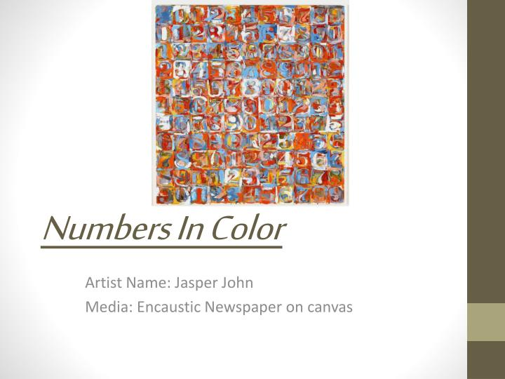 Numbers in color