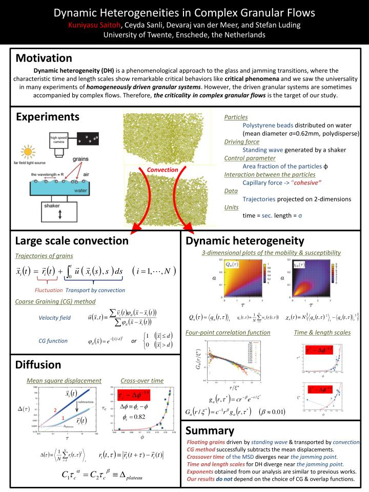 Dynamic Heterogeneities in Complex Granular Flows