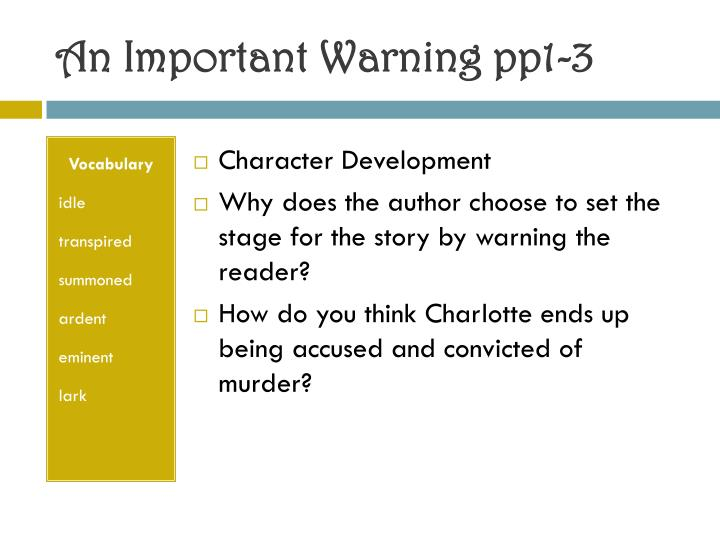 An important warning pp1 3