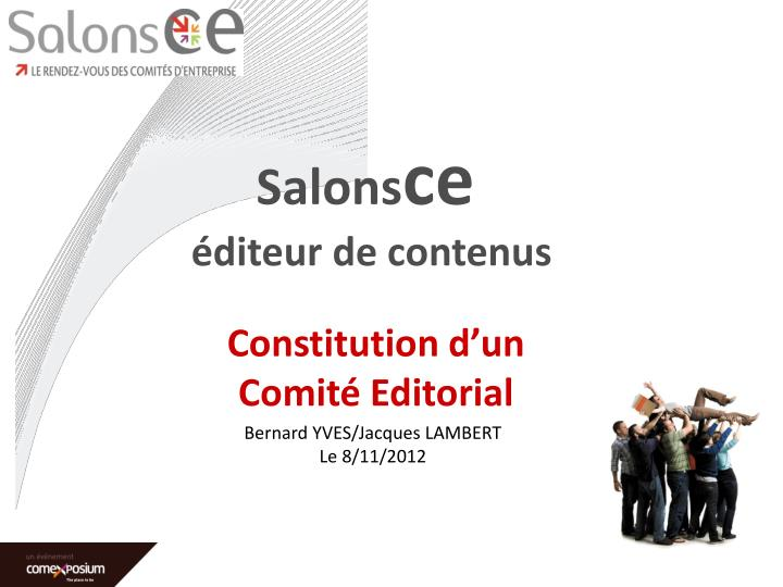 Constitution d un comit editorial