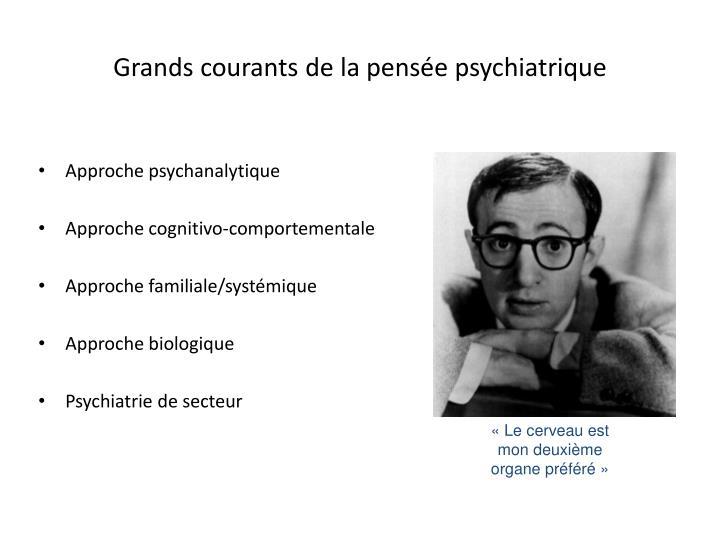 Grands courants de la pensée psychiatrique
