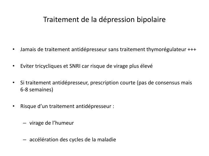 Traitement de la dépression bipolaire