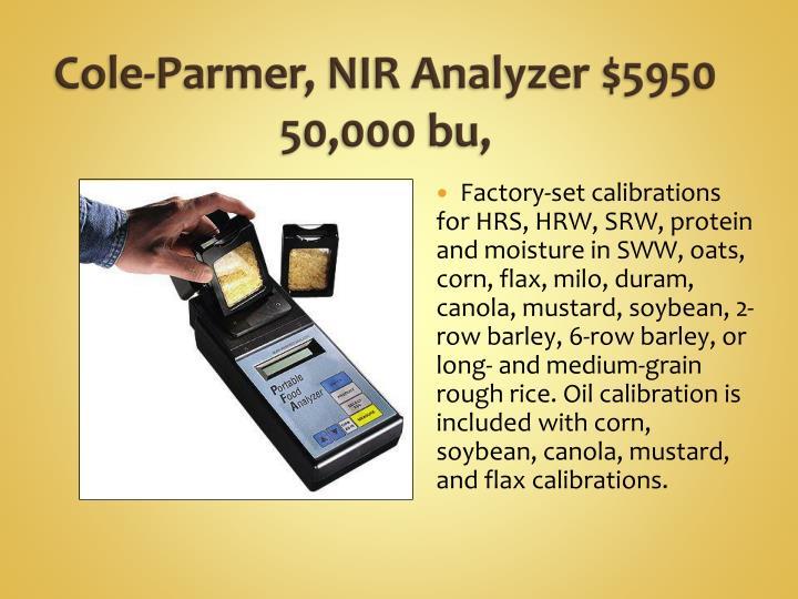 Cole-Parmer, NIR Analyzer $
