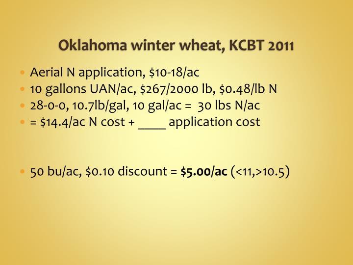 Oklahoma winter wheat, KCBT 2011