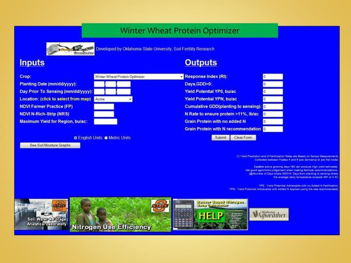 Winter Wheat Protein Optimizer
