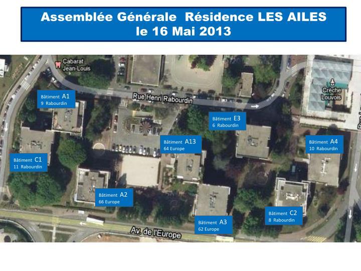 Assemblée Générale  Résidence LES AILES