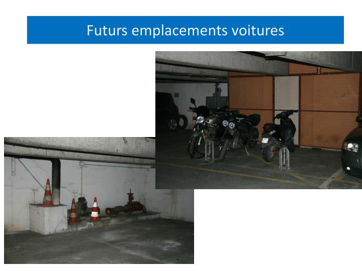 Futurs emplacements voitures