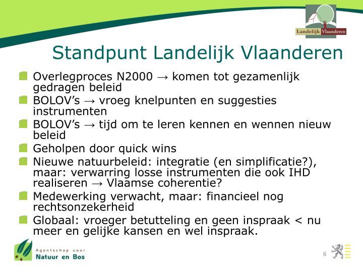 Standpunt Landelijk Vlaanderen