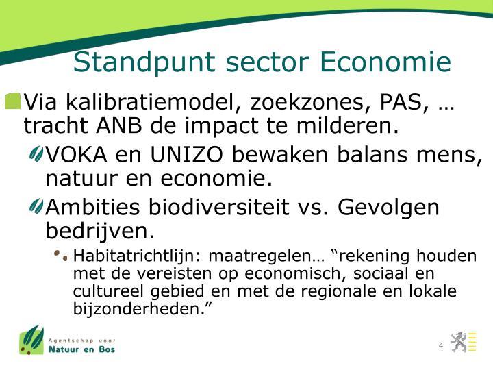 Standpunt sector Economie
