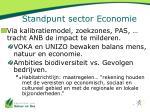 standpunt sector economie1
