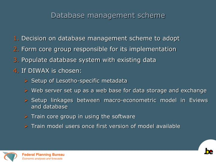 Database management scheme