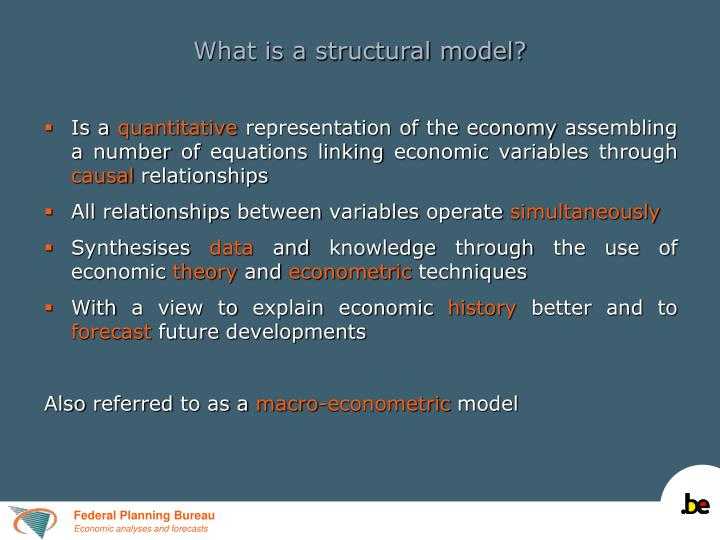 What is a structural model