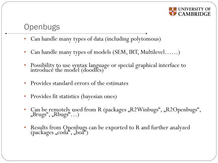 Openbugs