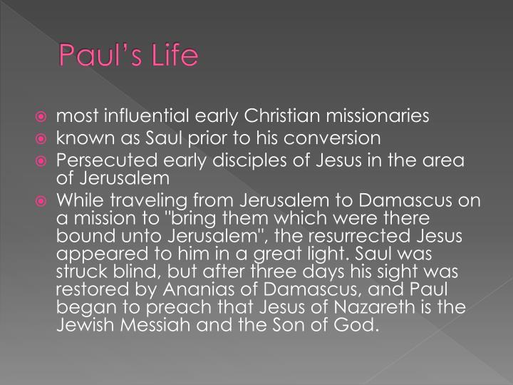 Paul's Life