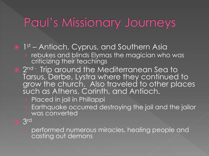 Paul's Missionary Journeys