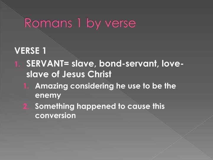 Romans 1 by verse