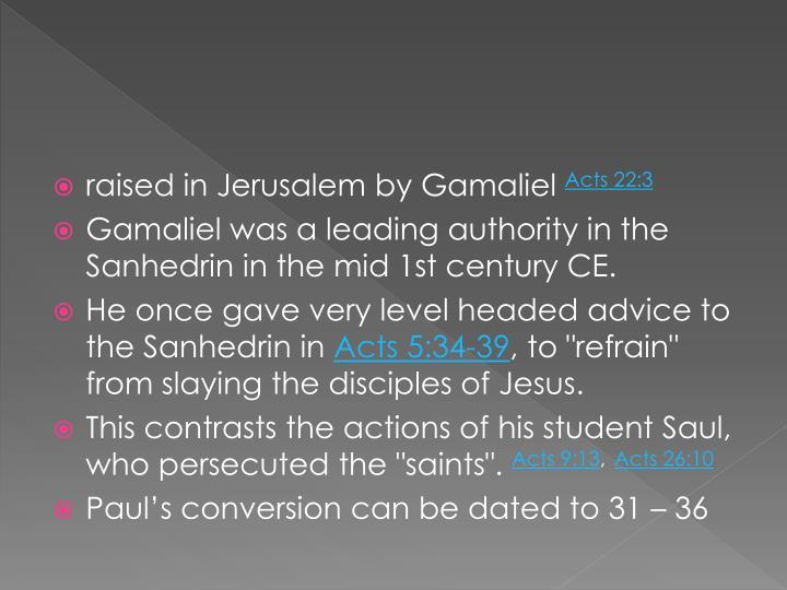 raised in Jerusalem