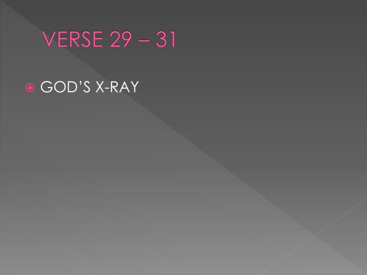 VERSE 29 – 31