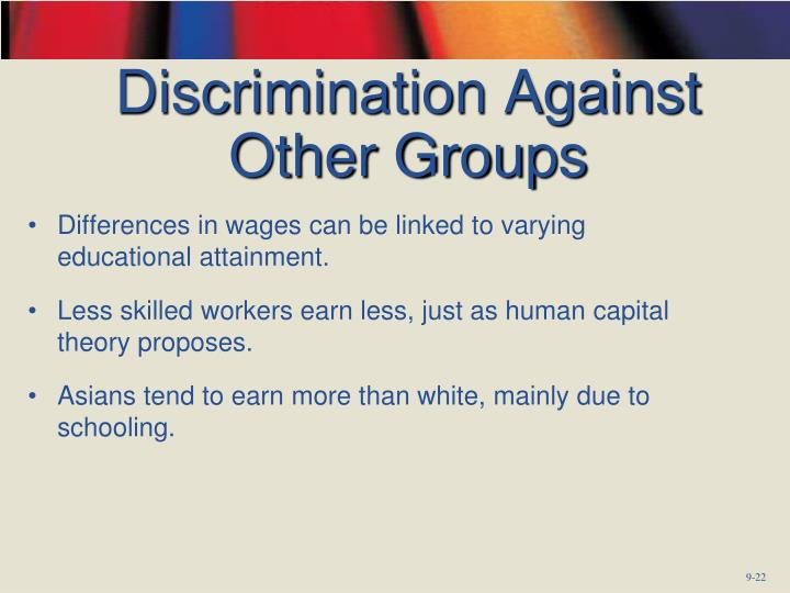 Discrimination Against Other Groups