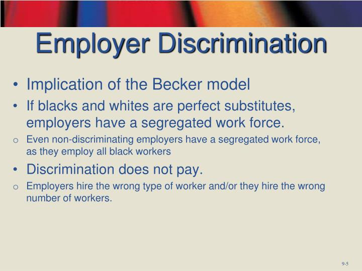 Employer Discrimination