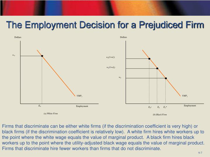The Employment Decision for a Prejudiced Firm