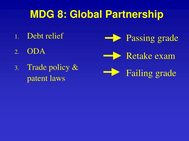 MDG 8: Global Partnership