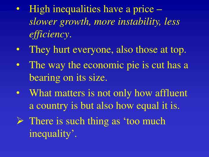 High inequalities have a