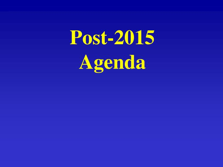 Post-2015 Agenda