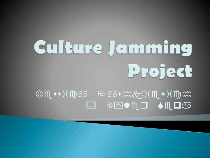 Culture Jamming Project