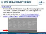 2 site de la biblioth que