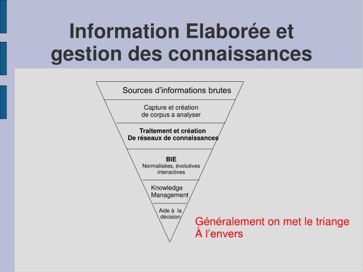 Information Elaborée et