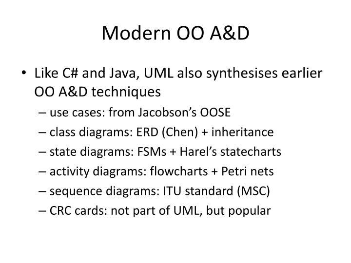 Modern OO A&D