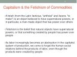 capitalism the fetishism of commodities