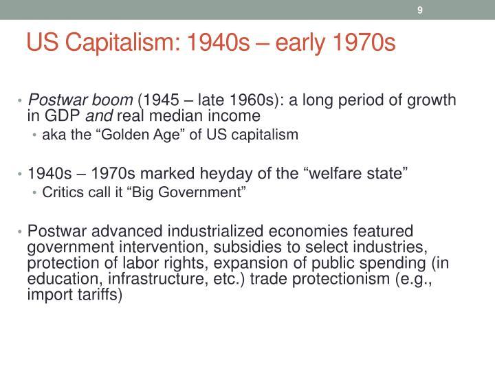 US Capitalism: 1940s
