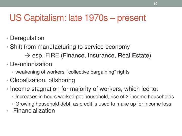 US Capitalism: late 1970s
