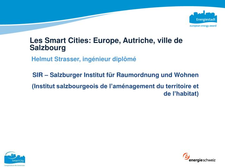 Les Smart Cities: Europe