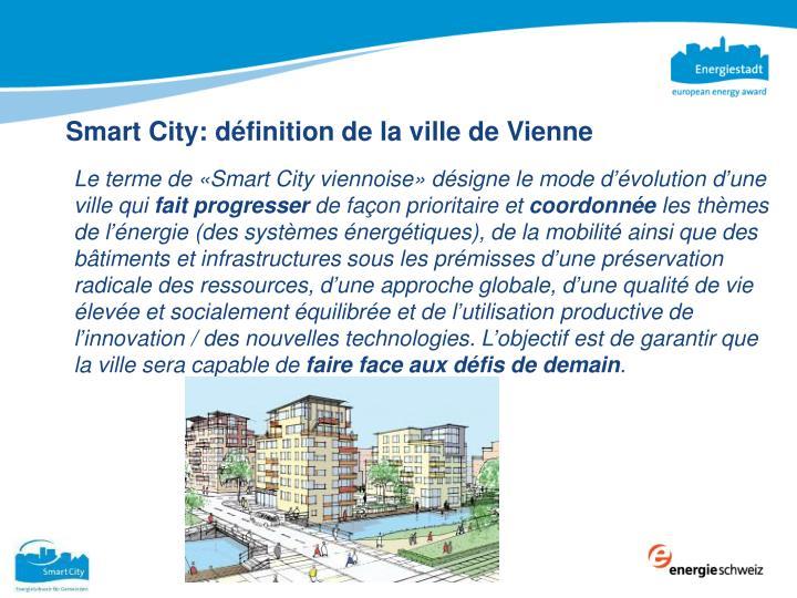 Smart City: définition de la ville de Vienne