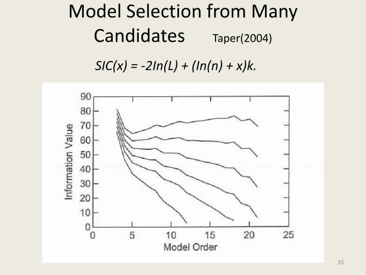 Model Selection from Many