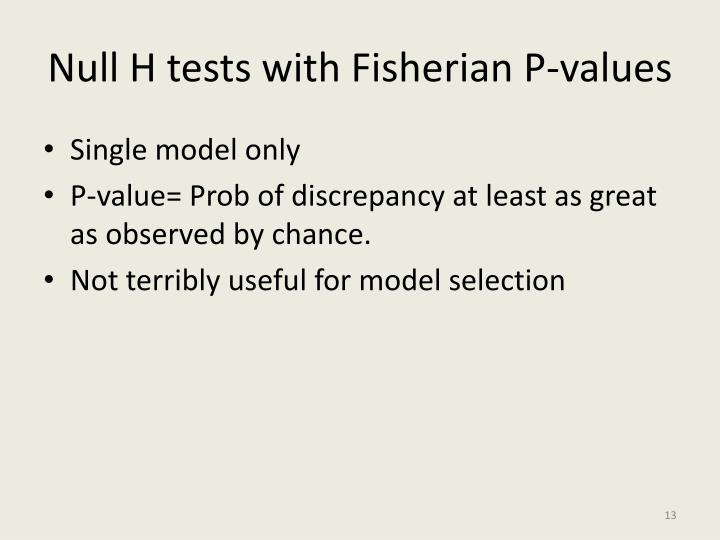 Null H tests with
